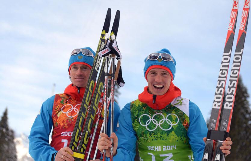 21  Максим Вылегжанин и Никита Крюков - серебряные призеры в лыжном  командном спринте.