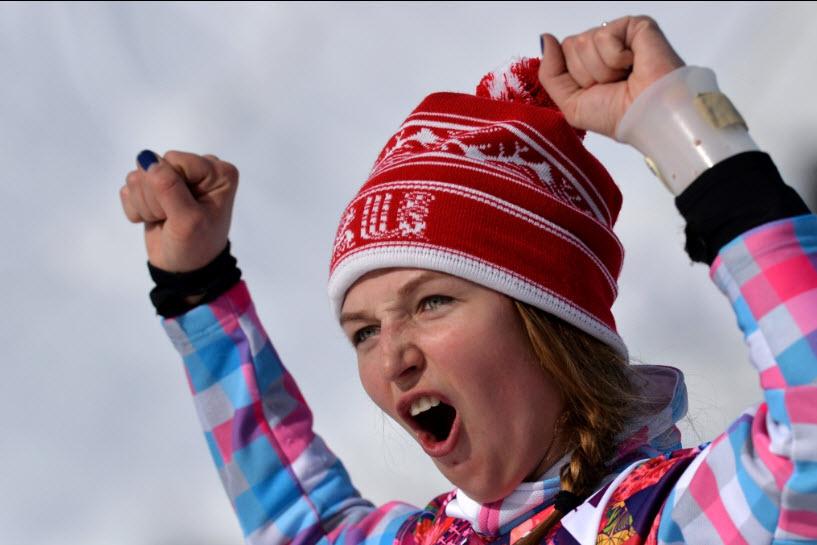 22 Сноубордистка Алена  Заварзина - бронзовый призер в параллельном гиганстком слаломе.
