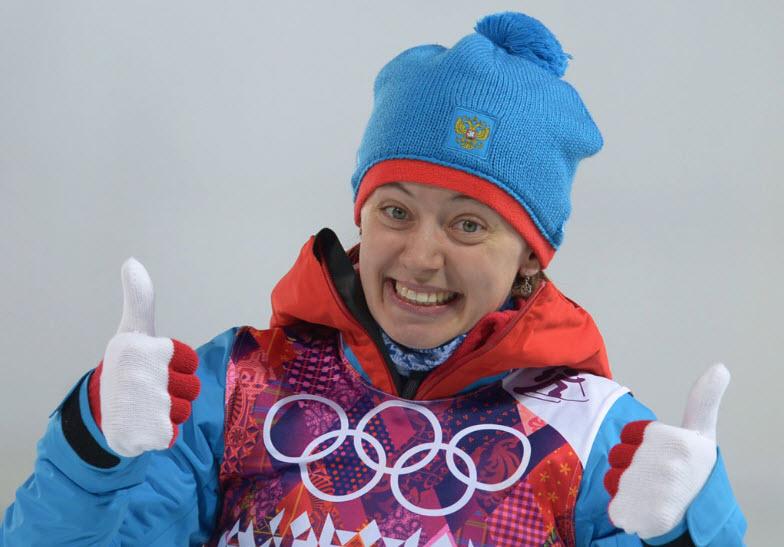 4 Биатлонистка Ольга Вилухина -  серебряный призер в спринте
